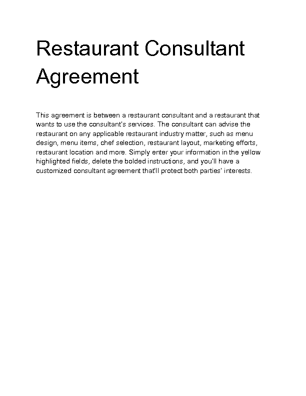 Welcome to Docs 4 Sale – Marketing Consulting Agreement