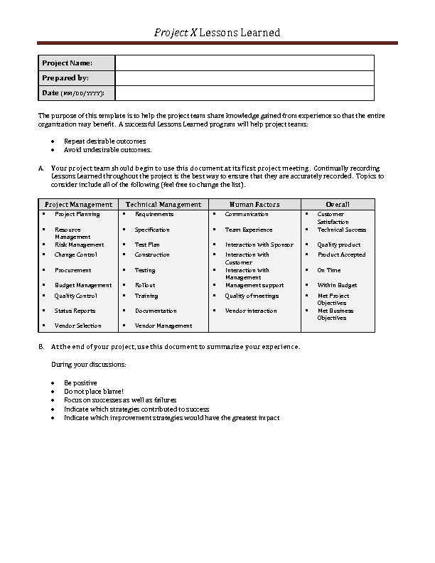 Welcome to docs 4 sale lessons learned document template maxwellsz