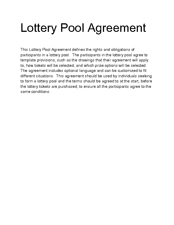 Welcome to docs 4 sale for Group lottery contract template