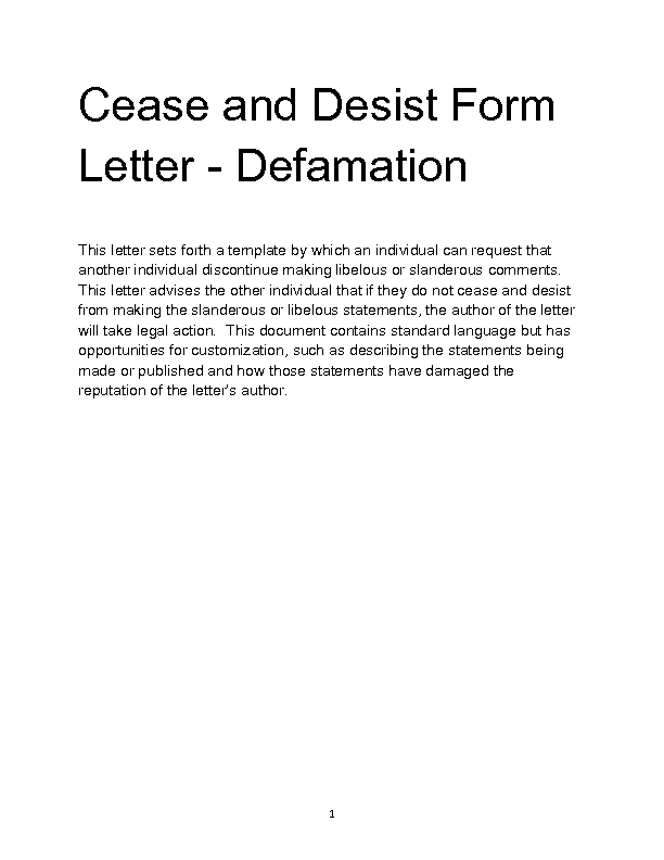 Welcome To Docs 4 Sale  Letter Of Cease And Desist Template
