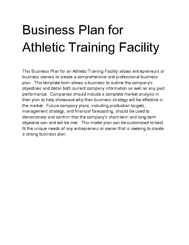 Welcome to docs 4 sale for Athletic training facility design
