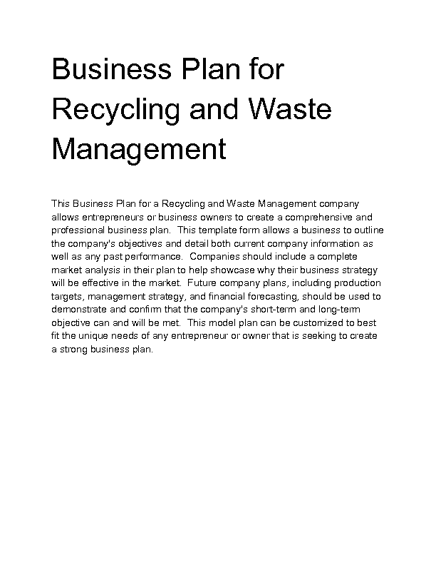 waste management essay