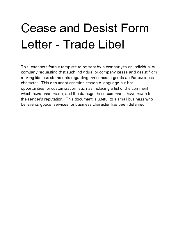 Cease And Desist Letter For Libel Pictures to Pin – Cease and Desist Template