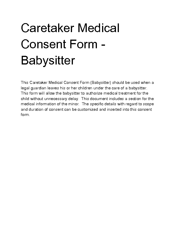 medical consent letters