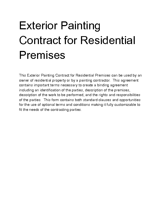 Welcome to Docs 4 Sale – Painting Contract